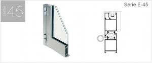 puerta de aluminio de comunidad