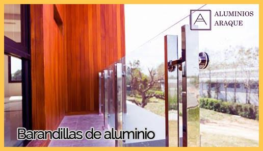barandillas de aluminio