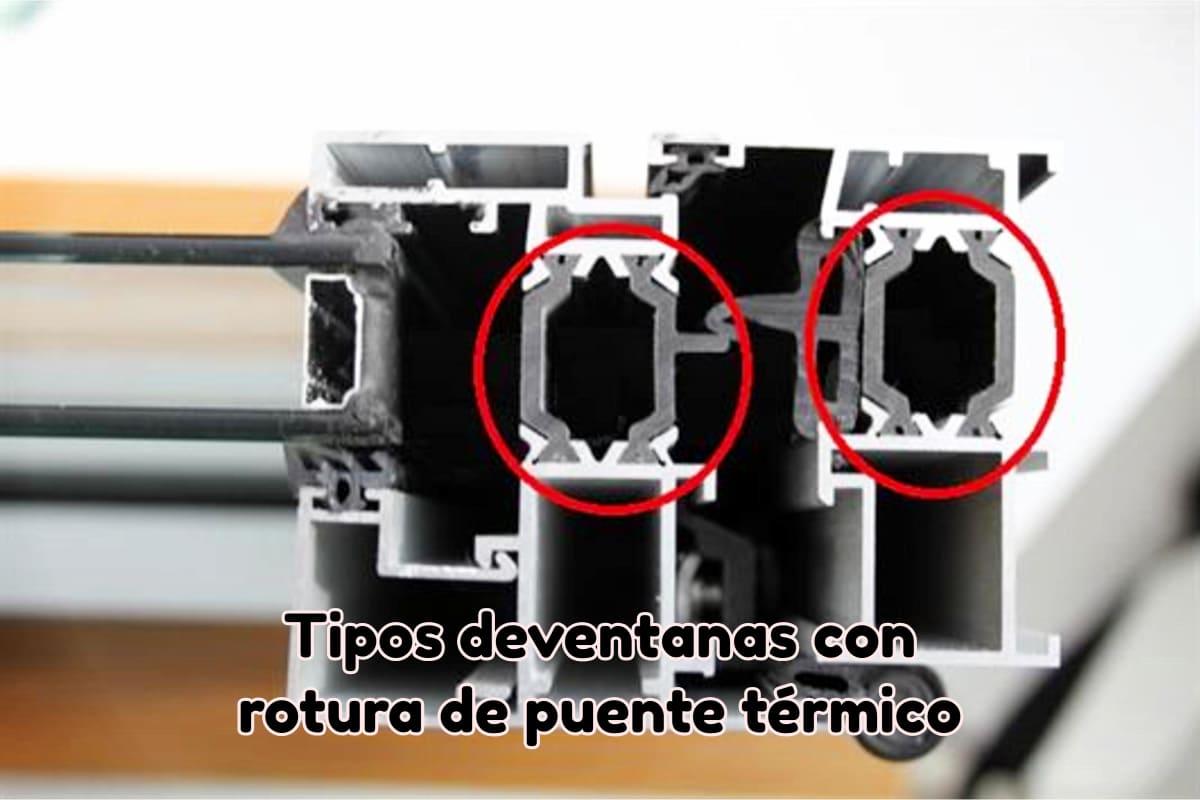 Tipos de ventanas con rotura de puente térmico o RPT