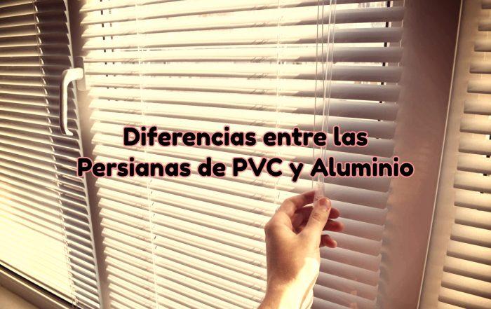 Diferencias entre persianas de PVC y aluminio