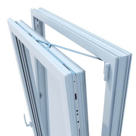 ventana oscilobatiente de aluminio
