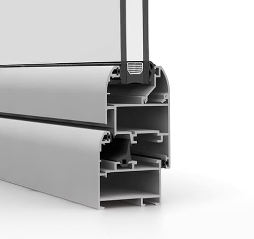 Puertas practicables de aluminio