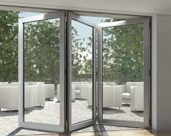 tipos puertas plegables de aluminio