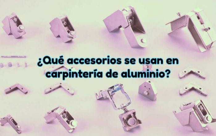 Accesorios de carpintería de aluminio