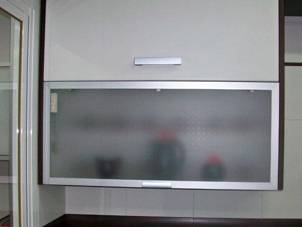 vitrinas y puertas para cocina en aluminio